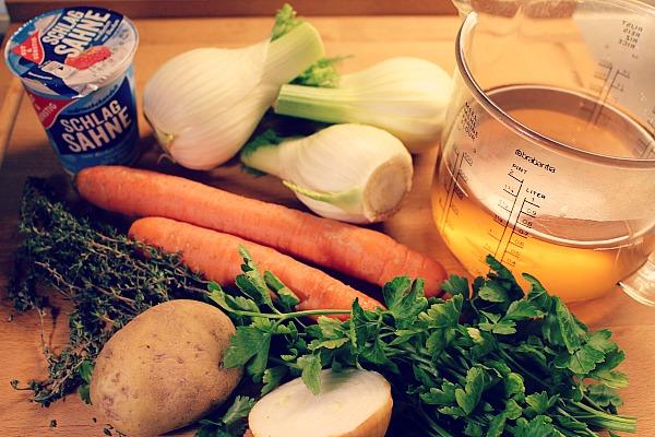 Fenchel-Möhrensüppchen Zutaten