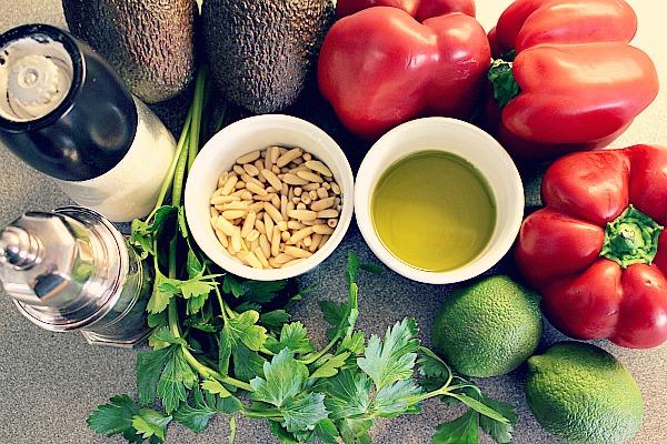 Zutaten Avocado-Paprika-Salat