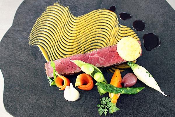 Wagyu Beef von oben