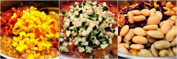 Collage mit Gemüse