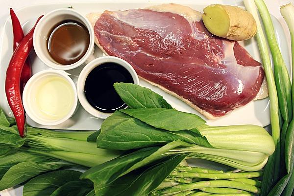 Zutaten für Ente asiatisch